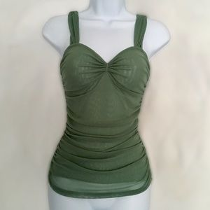 🆕 Anthropologie Green Layered Cami Top